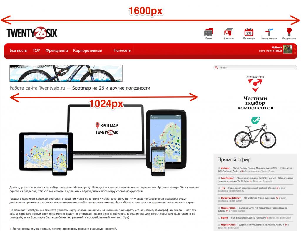 Работа сайта Twentysix.ru: Spotmap на 26 и другие полезности