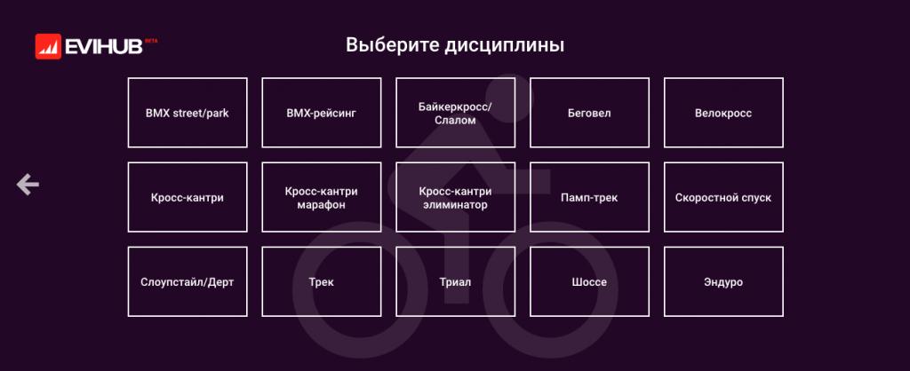 Работа сайта: Вышел открытый спортивный календарь Evihub