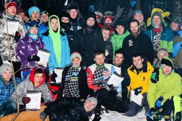 DISCO: Суровый московский miniDH: Enjoy Winter Race