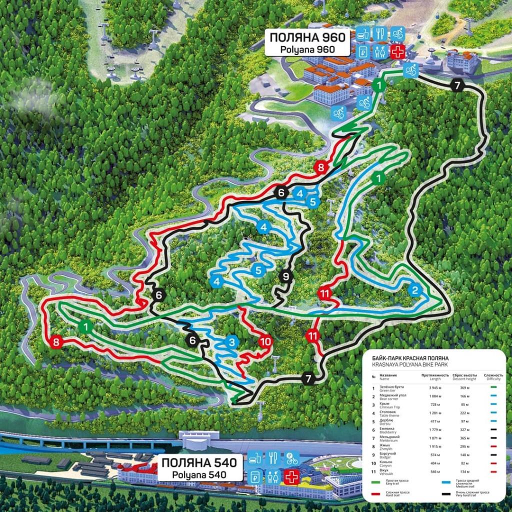 Gorky Bike Park: Байк Парк «Красная Поляна» открыт с 8 июня!!!!
