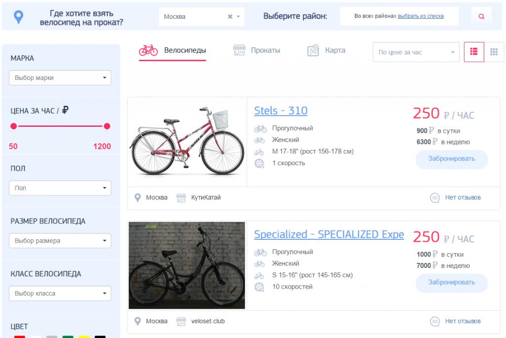 Личный блог: Велопрокат как высокооплачиваемое хобби