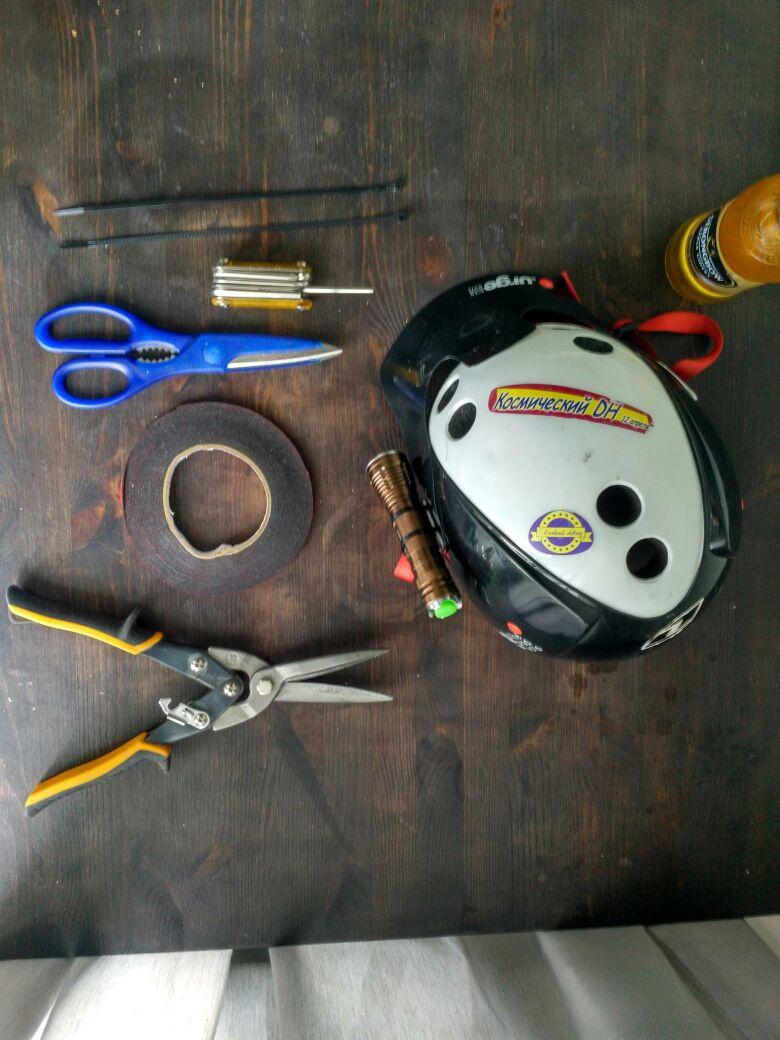 Личный блог: Легкое рукоблудие - крепим фонарь к шлему Urge Endur-O-Matic