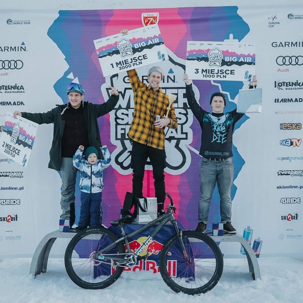 Велоиндустрия: Юра Староста взял 3 место на Big Air контесте Winter Sports Festival 2019