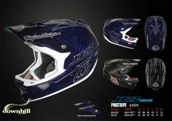 Troy Lee D3 Pinstripe Carbon