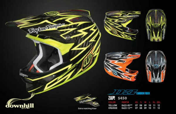 Troy Lee D3 Zap! Carbon