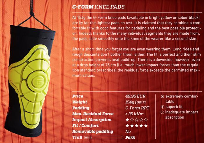 Экипировка: Большой тест 12 коленей от Enduro-mtb.com