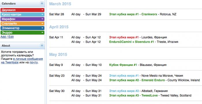 Работа сайта Twentysix.ru: Календарь на Twentysix открыт для организаторов гонок