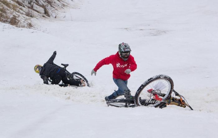 Блог им. Dustman: Новая дисциплина :  Дуал-мини-дх или ледовое побоище.
