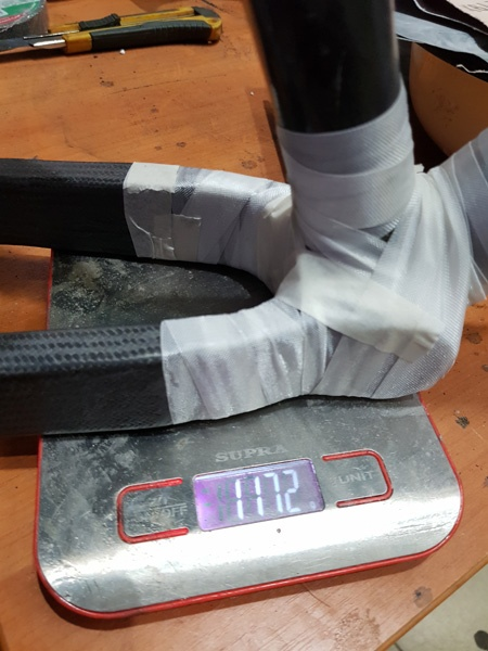 Блог им. daen: Самодельная карбоновая рама для памп-трека