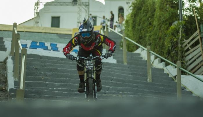 World events: Mick Hannah на Urban City Downhill World Tour