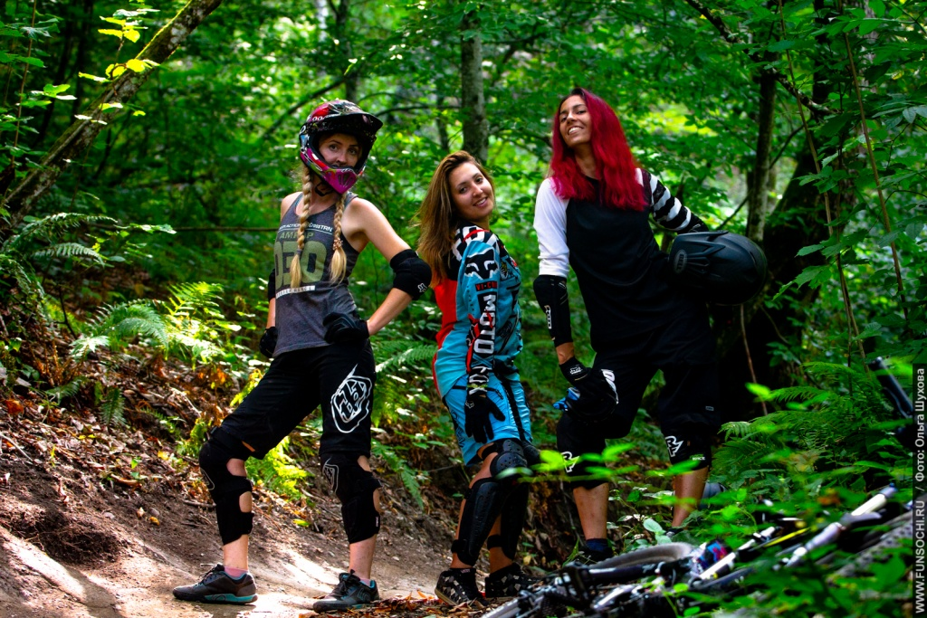 Gorky Bike Park: Only girls in bike park