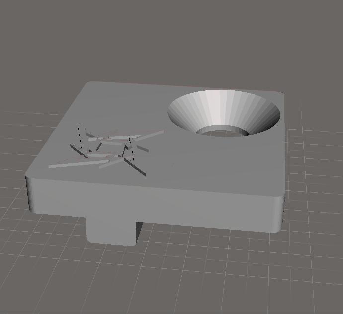 Блог им. RedCoyote: 3D печать заглушки крепления переднего переключателя